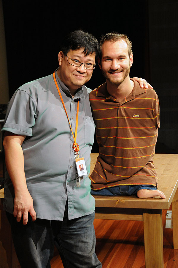 With Nick Vujicic